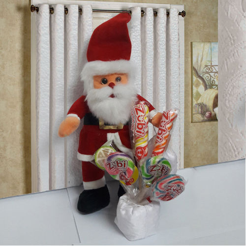 Santa with Assorted Candies