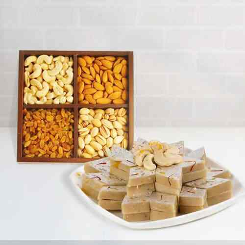 Assorted Dry Fruits N Haldirams Kaju Katli