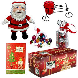 Gorgeous Arrangement of Christmas Gift Items with Flavors of Celebration