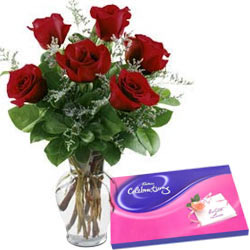 Cadbury Celebrations with Red Roses Combo