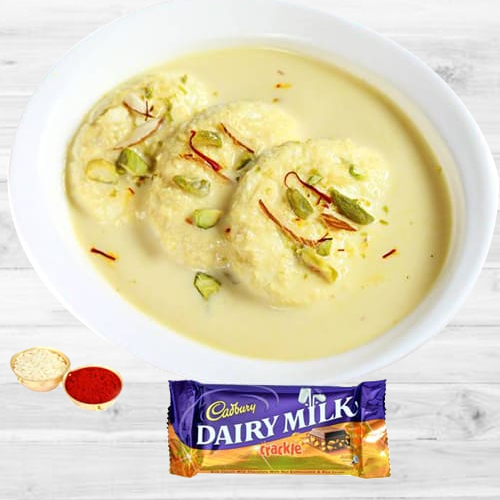 Delicious Cadbury Crackle N Rasmalai