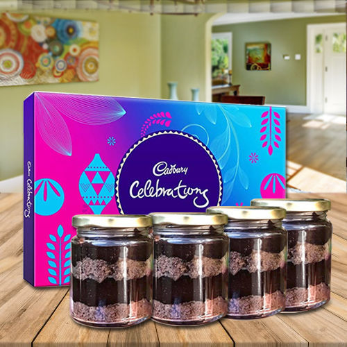 Mouthwatering Jar Cakes with Assorted Cadbury Chocolates