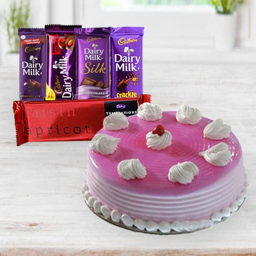 Delectable Birthday Cake with Chocolates