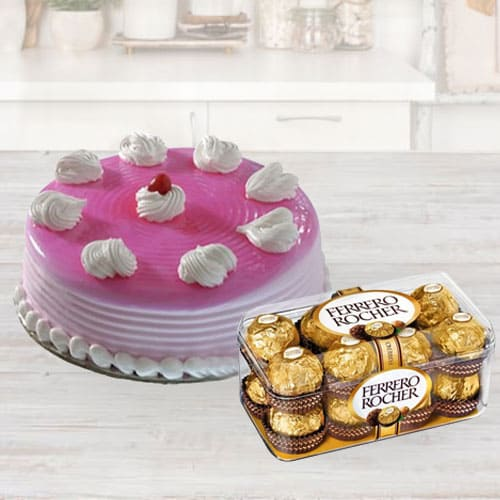 Special Birthday Cake with Ferrero Rocher