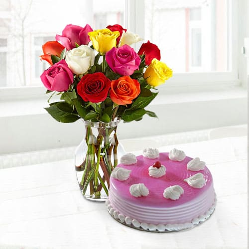 Special Cake n Roses for Mom