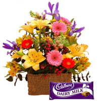Assorted Florals with Cadbury Dairy Milk Chocolate
