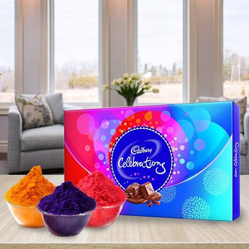 Exclusive Herbal Gulal with Cadbury Chocolates
