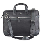 Amazing Faux Leather Laptop Bag in Black