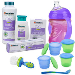 Dashing Himalaya Baby Care Hamper with Touch Of Affection