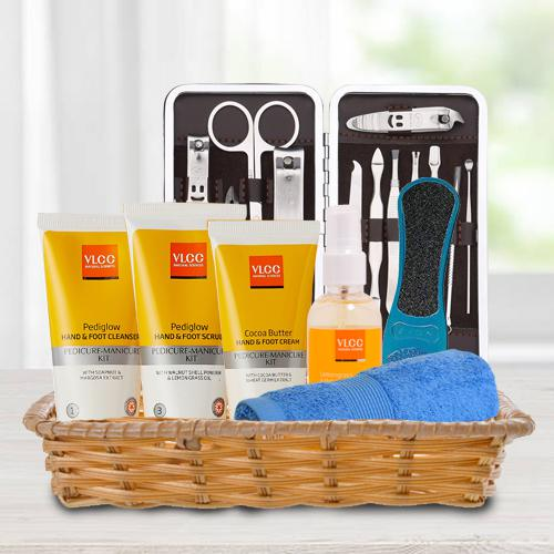 Enigmatic Gift Basket of Essential VLCC Foot Care Products