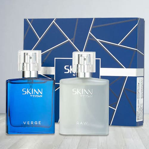 Exciting Titan Skinn Verge and Raw Fragrances Set for Men