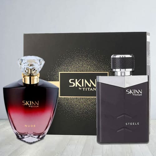 Exciting Titan Skinn Nude and steele Fragrances Pair
