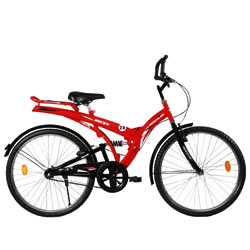 Sophisticated Black and Red BSA Rocky Bicycle