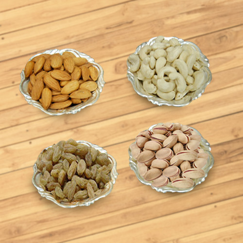 Dry Fruits N Silver Plated Bowls Combo