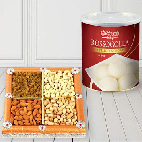 Enticing Haldirams Rasgulla N Mixed Dry Fruits