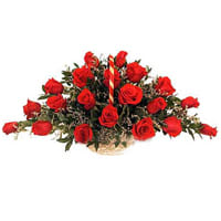 Blushing Arrangement of Archangelic Red Roses