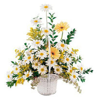 Perfect Mixed Flowers Basket Arrangement