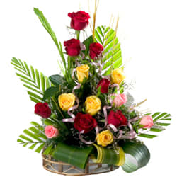 Special Colorful Roses Arrangement