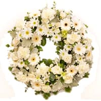 Beautiful Mixed Flowers Wreath