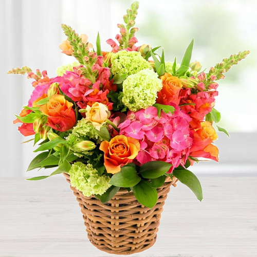 Gift Basket Arrangement of Lovely Flowers