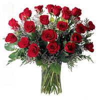 Attractive charming 40 Red and White Roses
