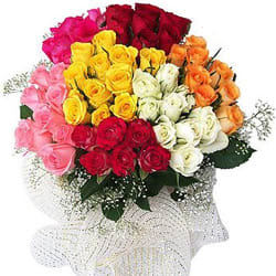 Pretty Assorted Roses Bunch