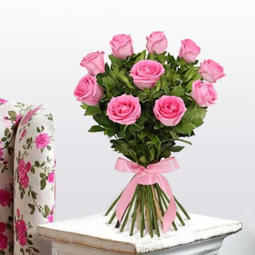 Attractive Pink Roses Bouquet