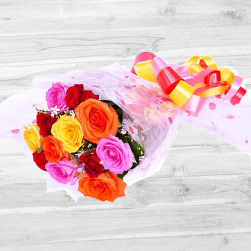 Fantastic Assorted Roses Bunch