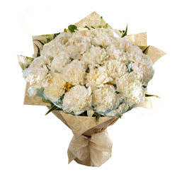 Wonderful White Carnations Bouquet