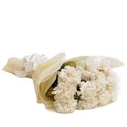 Graceful Bouquet of White Carnations