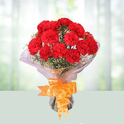 Wonderful Red Carnations Bouquet