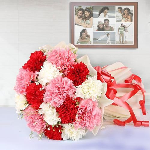 Garden-Fresh Colorful Carnations Bouquet