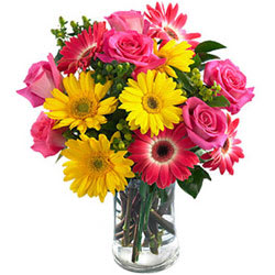 Charming Assorted Flowers in a Vase