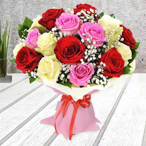 Multicolor Assorted Roses Bouquet