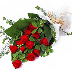 Radiant Red Roses Bouquet