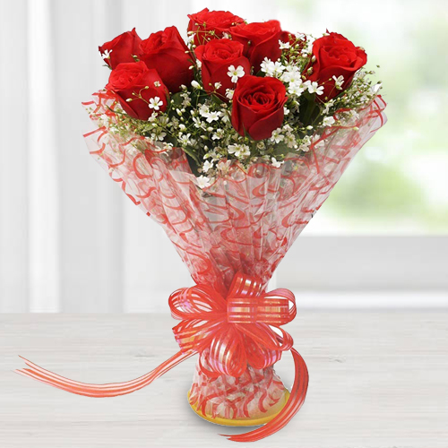 Sophistication and Elegance Bouquet of Red Roses