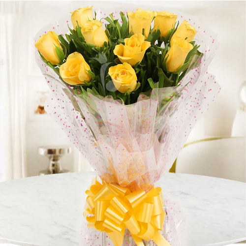 Spectacular Yellow Roses Bunch