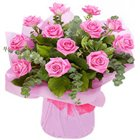 Splendid Day Bouquet of Pink Roses