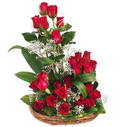 Special Basket Arrangement of Dutch Roses