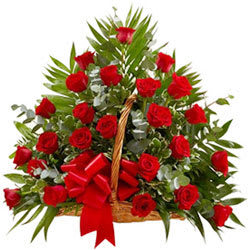 Elegant Pure Passion Basket of48 Red Roses