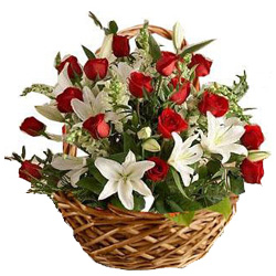 Basket of Charming Flowers