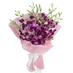 Classy Bouquet of 10 Orchids