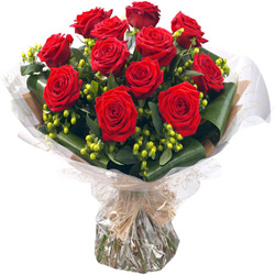 Charming B Day Red Rose Bouquet
