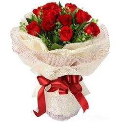 Adorable Anniversary Bliss Red Rose Bouquet