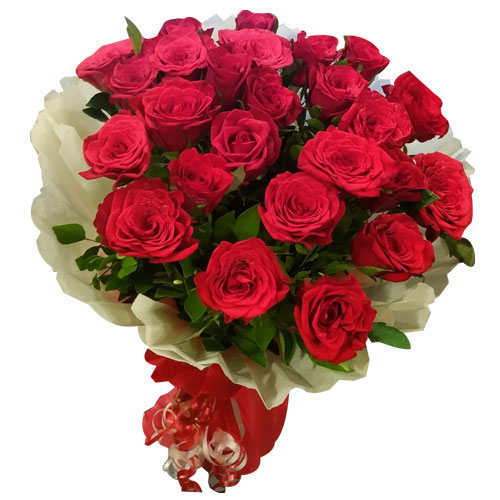 Brilliant Red Roses Bouquet