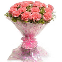 Order for this attractive Bouquet of Fresh Pink Carnations