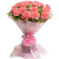 Dazzling Pink Carnations Bouquet