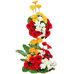 Multicolored Arrangement of Assorted Gerberas