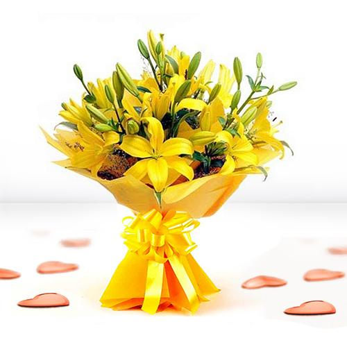 Breathtaking Bouquet of Yellow Lilies