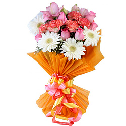 Awesome Mixed Flowers Bouquet